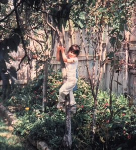 Pretending to be a monkey while in Guatemala