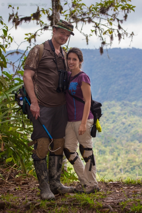 Enjoying the lookout from Toucan Trail, relaxing for a short while during a macro photography hike at Septimo Paraiso.