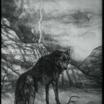Canis lupus - The Grey Wolf Traditional-Watercolor